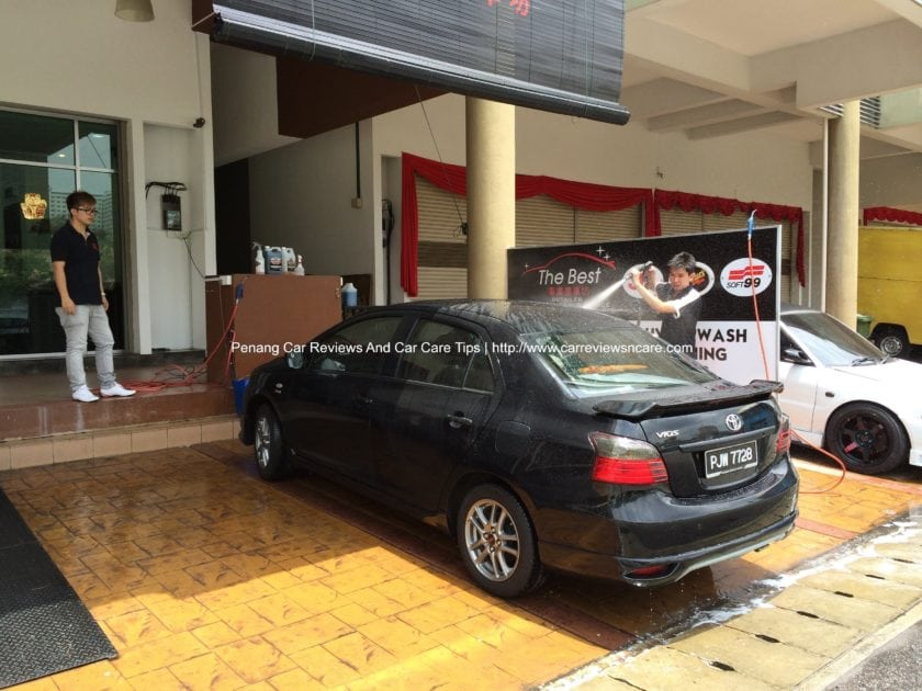 Toyota Vios GT Street at The Best washing bay