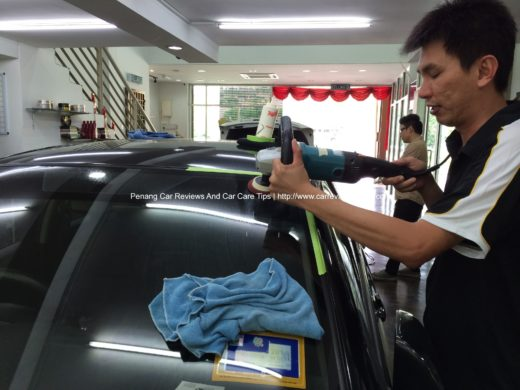 Car Polishing on Toyota Vios at The Best 3