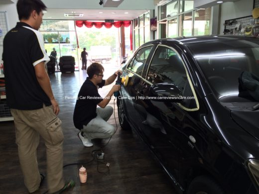 Car Polishing on Toyota Vios at The Best