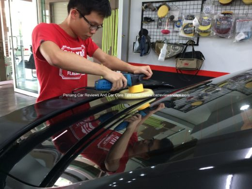 Car Polishing on Toyota Vios at The Best 2