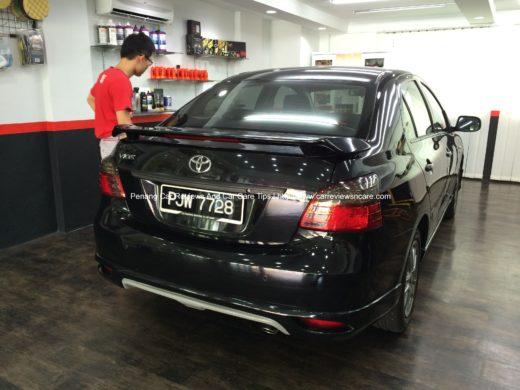 Toyota Vios after car detailing 3