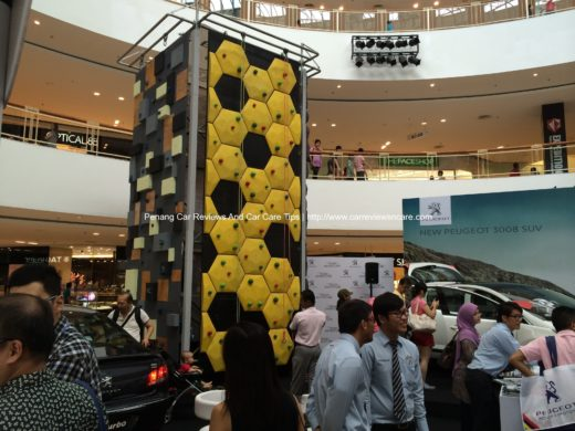 Indoor Rock Climbing in Peugeot roadshow Queensbay Mall