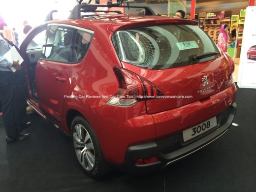 All new Peugeot 3008 Rear View