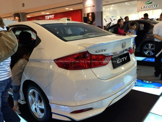 All New Honda City 2014 rear view