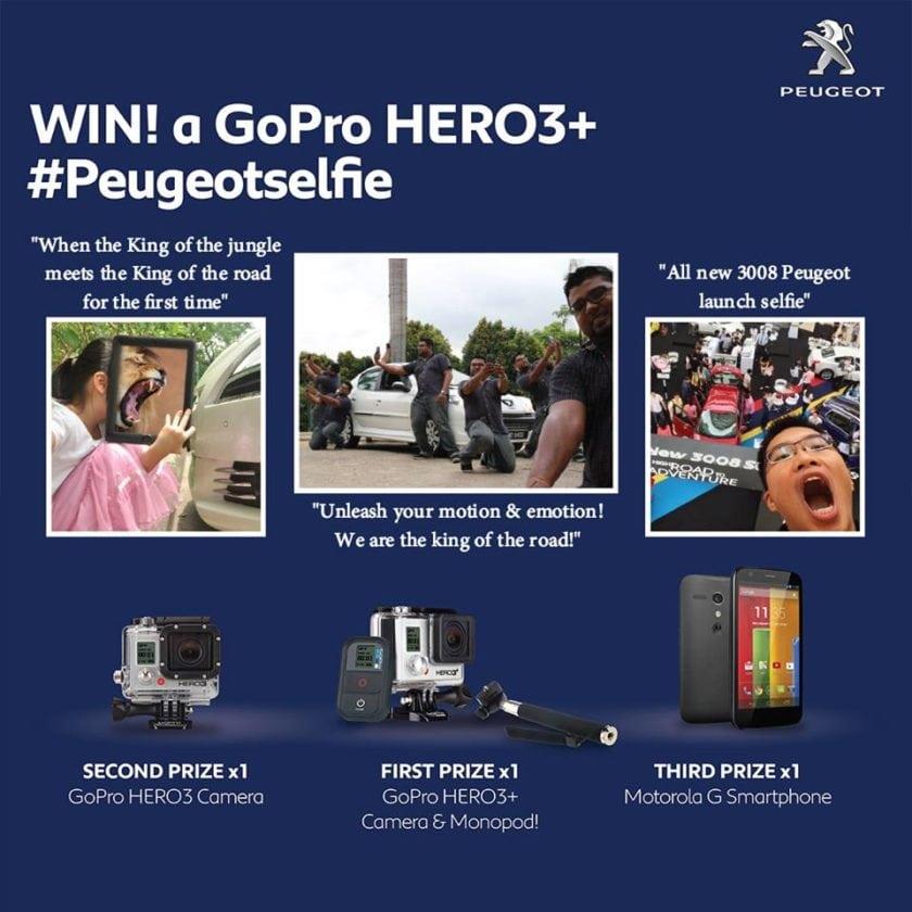 WIN! a GoPro HERO3+ #Peugeotselfie Contest