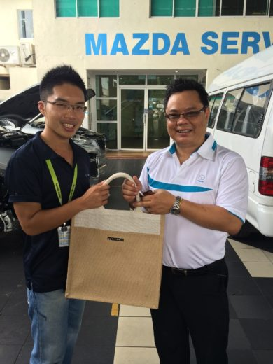 Prize Given by the Mazda