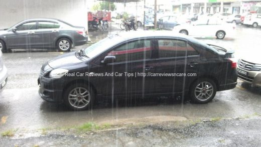 Side View of Toyota Vios GT Street Vios with TRD Sportivo Rims