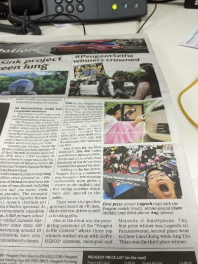 New Straits Times on 1st June 2014 - Ang Tzu Thian