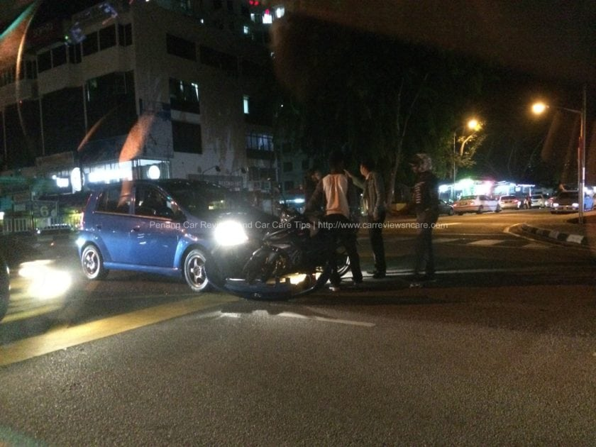 Accident in front of USM Penang