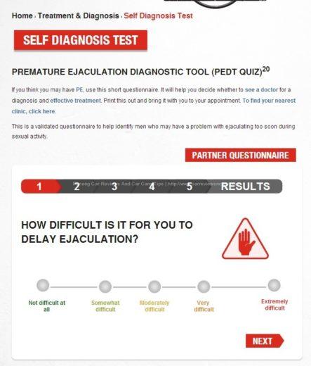Premature Ejaculation Diagnostic Tool Quiz