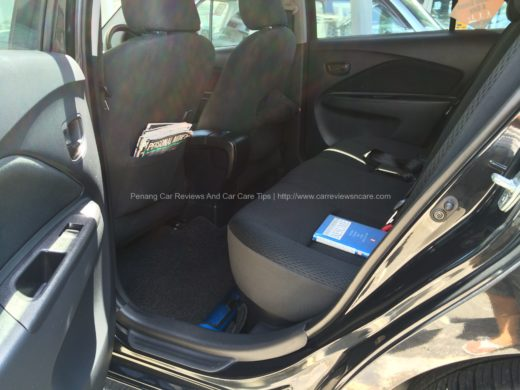 Toyota Vios J Back Seats