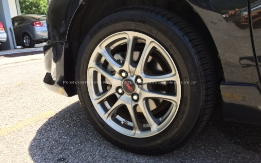 Toyota Vios front wheels with TRD Sportivo Wheel
