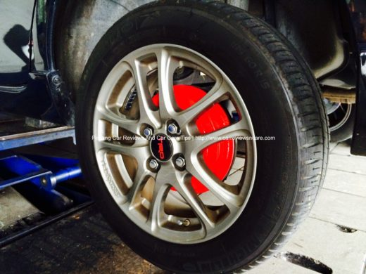 Painted Toyota Vios Rear Drum Brake with TRD Sportivo Rims