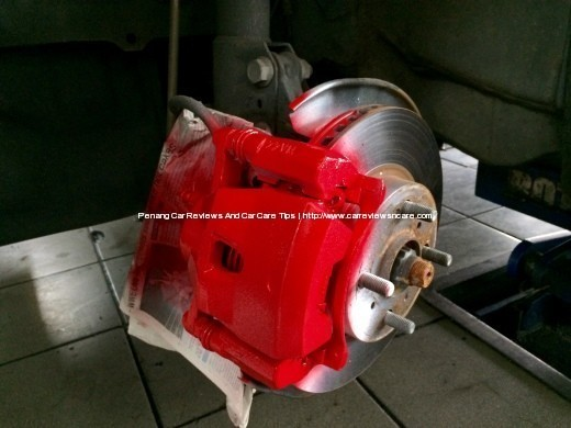 Painted Toyota Vios Front Brake Caliper in Red