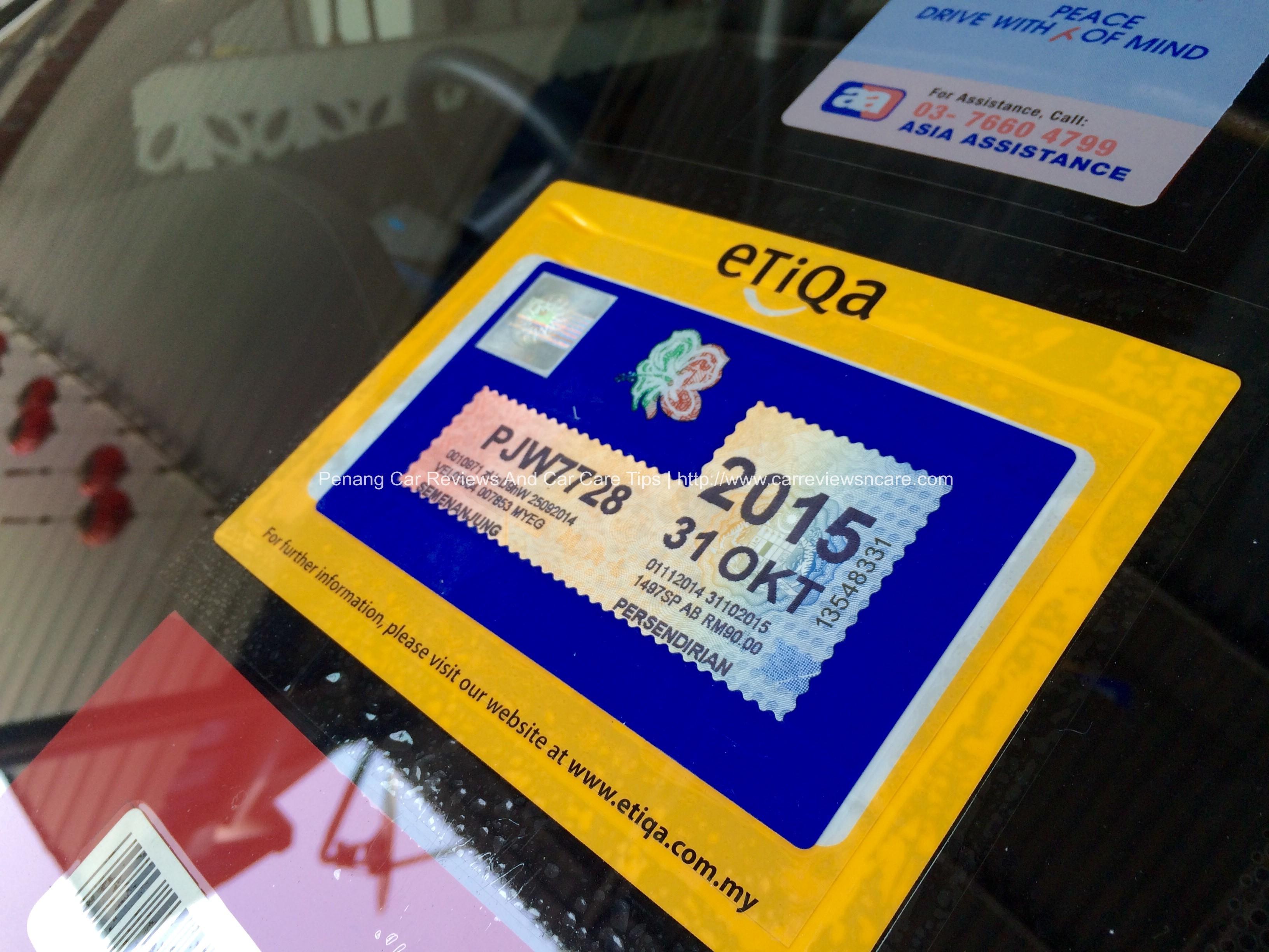 Car sticker design online malaysia - Malaysia Road Tax Sticker On The Car Windscreen