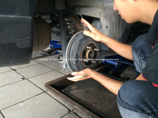Removing Toyota Vios Drum Brake Cover