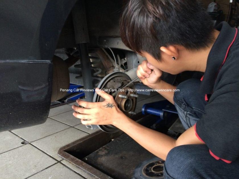 Toyota Vios Drum Brakes Adjustment