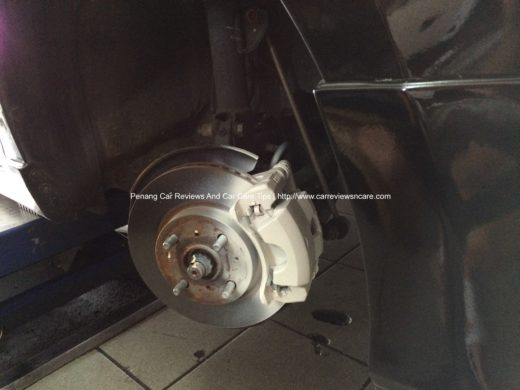 White Paint on Toyota Vios Front Brake Caliper
