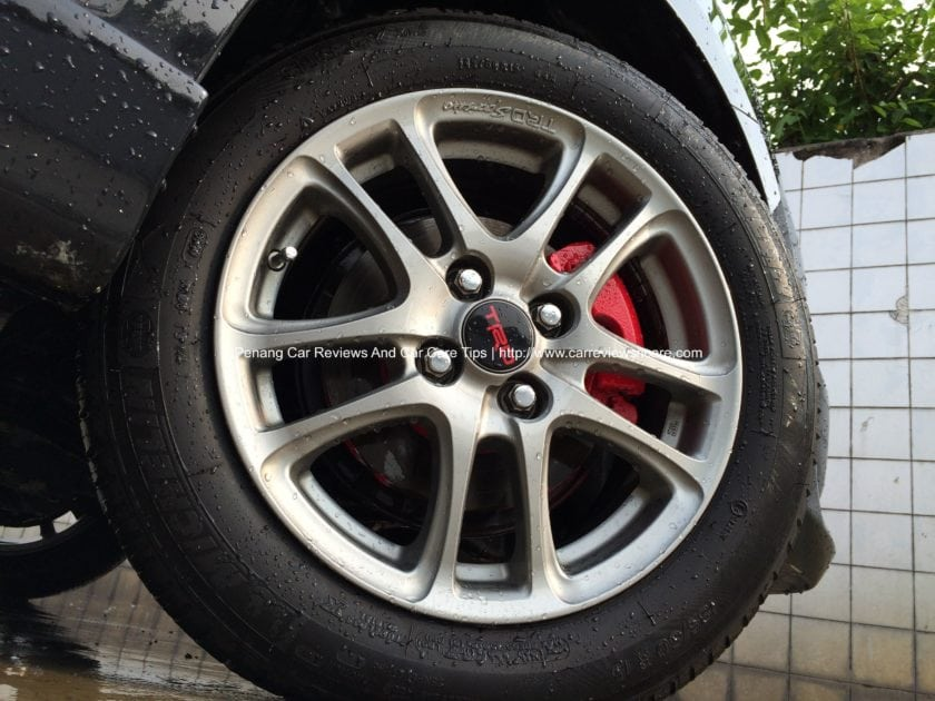 Toyota Vios TRD Sportivo Wheels with Red Brake Caliper