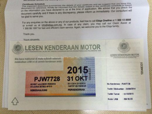 Lesen Kenderaan Motor aka. Malaysia Road Tax Sticker