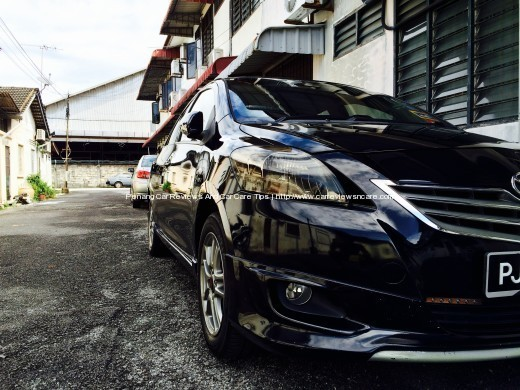 Waxed Toyota Vios GT Street Front View