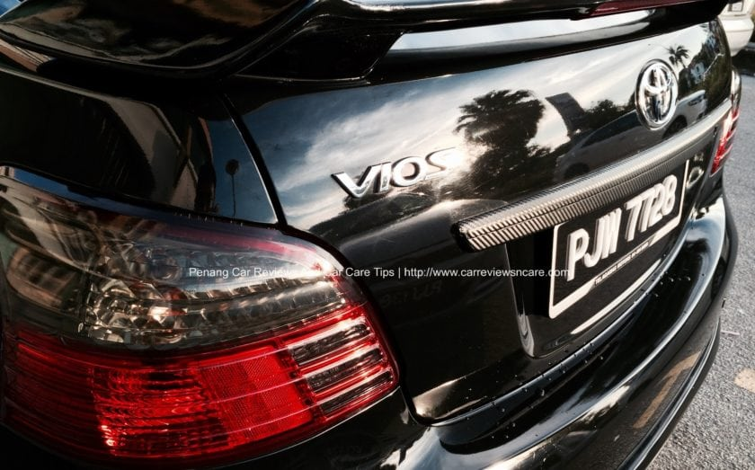 Toyota Vios Black Back View