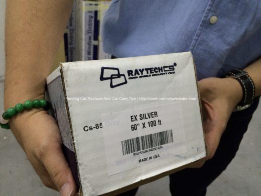 Raytech Tint Film Serial Number