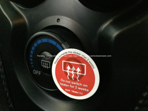 Raytech Warning Message on Rear Windscreen Heater