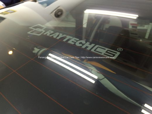 Raytech Ultra 70 Tint Film on Rear Windscreen Toyota Vios GT Street