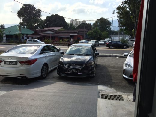 Raytech staff driving out my Toyota Vios for the BTU reading
