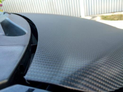 carbon fiber vinyl on Toyota Vios GT Street hood 2
