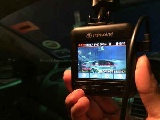 Transcend DrivePro 200 in Toyota Vios