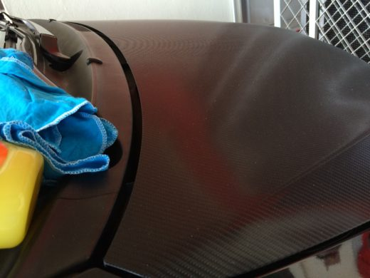 ArmorAll Protectant gel application on the carbon fiber vinyl  2