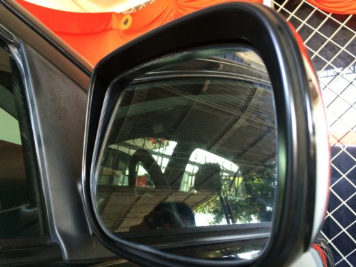 Side Mirror with water marks on it