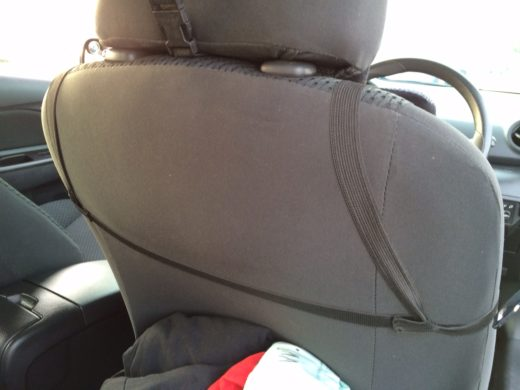 Secure the string around the car seat