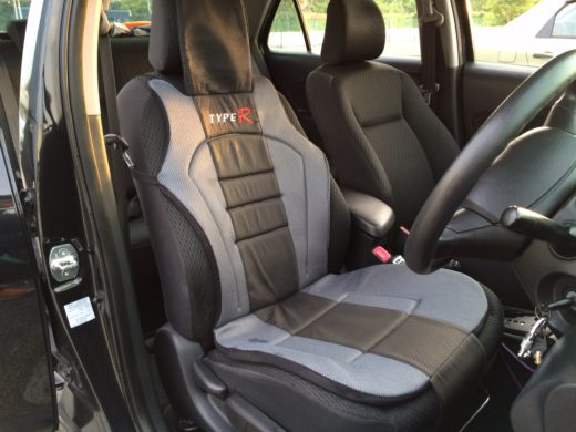 Front Car Seat Cover Installed on the Toyota Vios driver seat