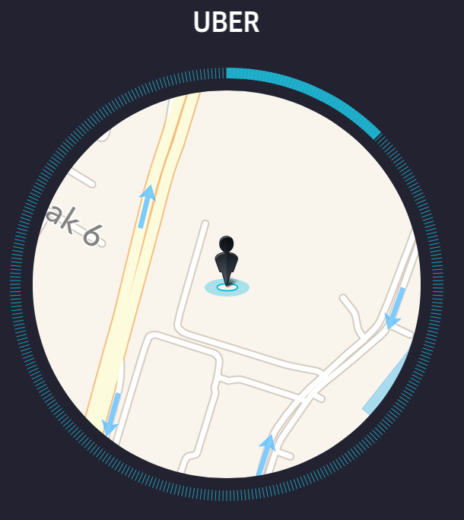 Uber Passenger calling for service