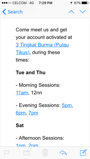 Uber account activation email invitation