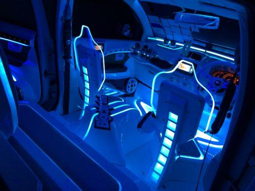 LED car seat in VIP Style Perodua Myvi