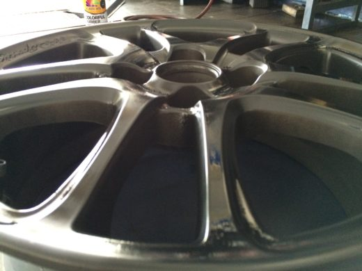 TRD Wheels coated with Black Rubber Paint 2
