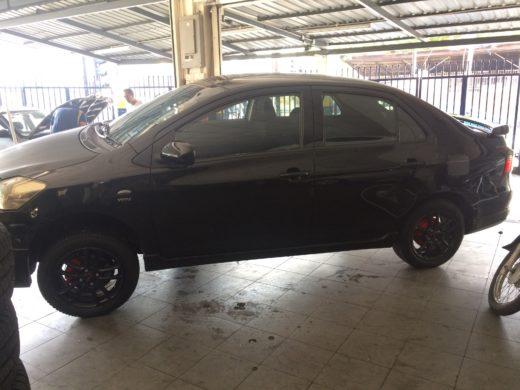 Black TRD Wheels Installing back to Toyota Vios