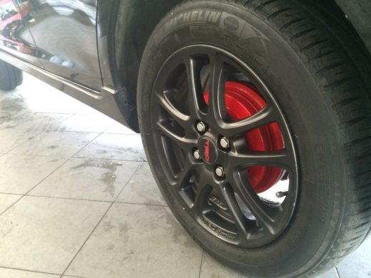 Rear Black TRD Wheels with red Drum Brake