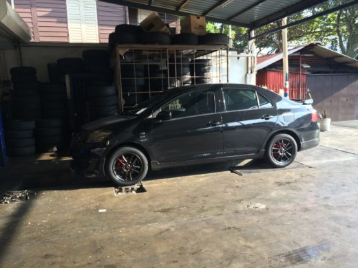 Toyota Vios GT Street and Black TRD Wheels