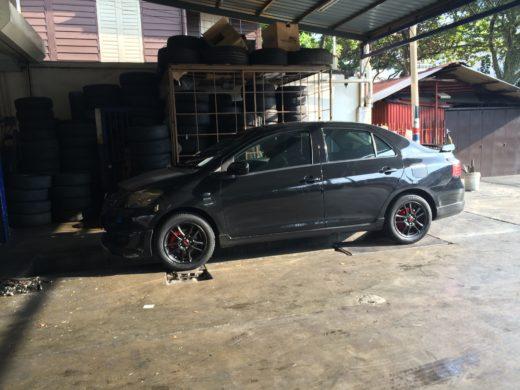 Toyota Vios GT Street and Black TRD Wheels