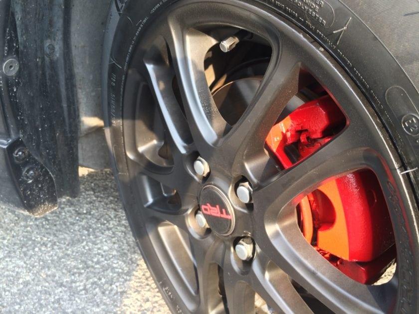 Black Painted Toyota Vios TRD Wheels