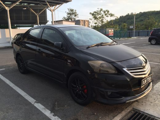 Toyota Vios GT Street and Black TRD Wheels Sideview