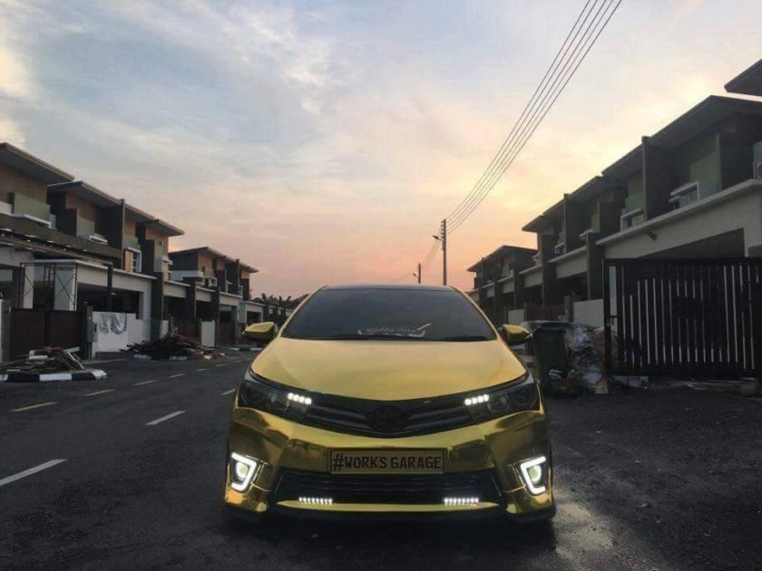 Front View Gold Toyota Altis