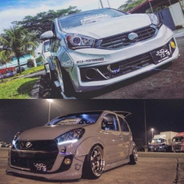 White PremiumX and Icon Perodua Myvi by Jacky Yap