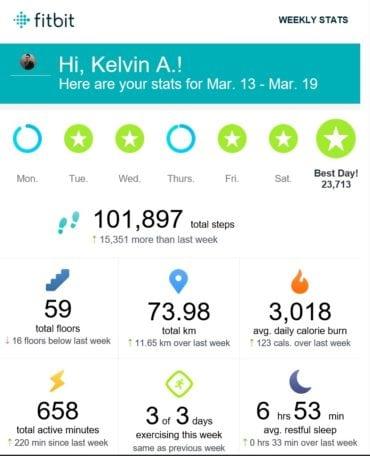 Fitbit Weekly Result