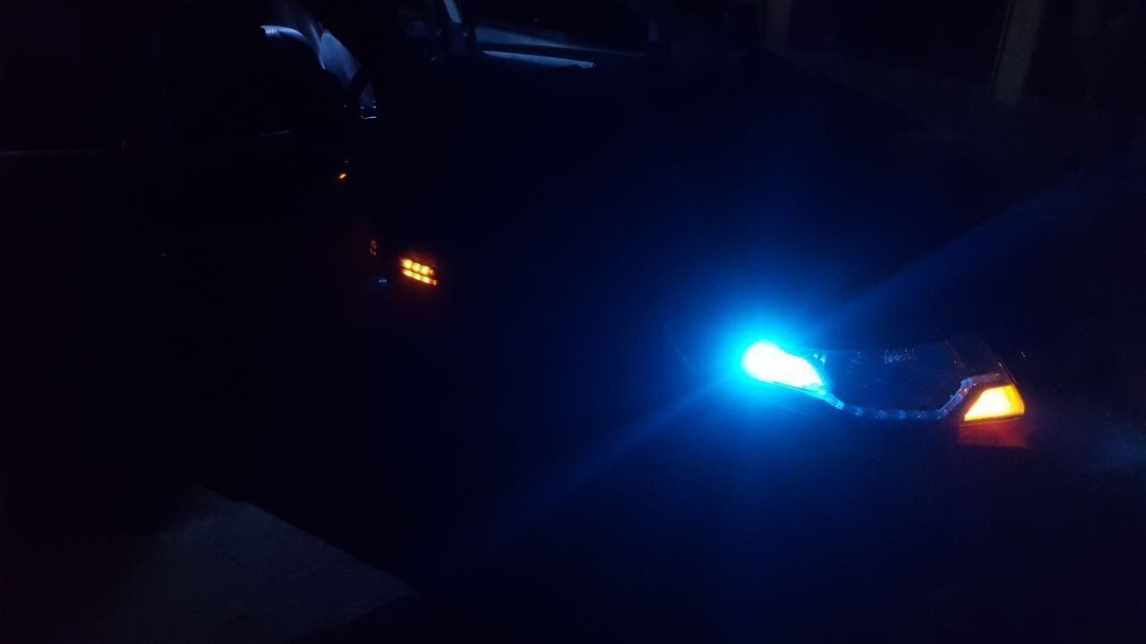 Honda City Front View with blue LEDs 2